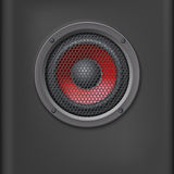 Sound speaker with grille. Stock Image