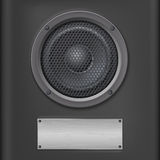 Sound speaker with metal plate Royalty Free Stock Images