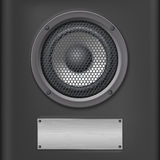 Sound speaker with metal plate Royalty Free Stock Photos