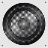 Sound speaker. Musical speaker with bolts and metal mesh. Vector   Stock Photos