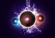 Sound Speaker Party Music Background Stock Images