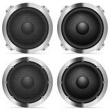 Sound speaker set Royalty Free Stock Photos