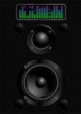 Sound speakers. Illustration  of black sound speakers Stock Photos