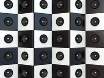 Sound speakers. 3D background Royalty Free Stock Photography