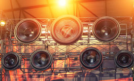 Sound speakers background Stock Images