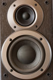 Sound speakers close-up. Audio stereo system macro Stock Photos