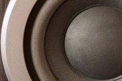 Sound speakers close-up. Audio stereo system macro Stock Image