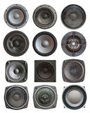 Sound speakers isolated royalty free stock photo