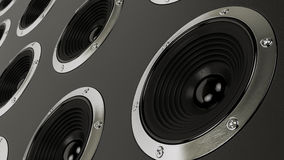 Sound speakers stereo system Hi-Fi Royalty Free Stock Image