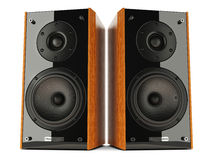 Sound speakers stereo system Royalty Free Stock Image