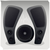 Sound speakers. The sound of the speakers for the theme song. vector format Stock Photo