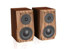 Sound speakers 3d illustration. Royalty Free Stock Images