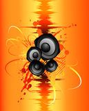 Sound splash. Sound wave  music background Stock Image