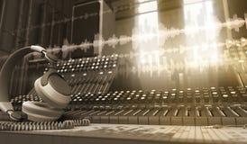 sound studio royaltyfri illustrationer
