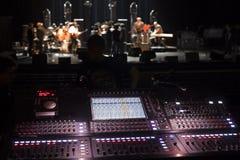 sound studio Arkivbild