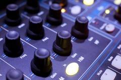 Sound studio adjusting record equipment Stock Images