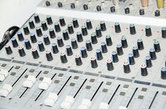 Sound studio equipment Royalty Free Stock Photography