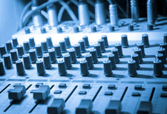 Sound studio equipment Stock Images