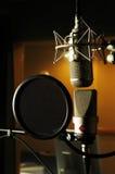 sound studio för mikrofon Arkivbild