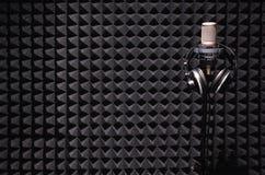 sound studio för registrering Arkivfoton