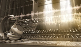 Sound Studio. Music tools in the sound studio Royalty Free Stock Images