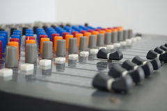 Sound Studio - Stock Image. Professional Equipment Inside The Studio, Mixer - Stock Image Royalty Free Stock Photography