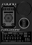 Sound subwoofer. Stock Image