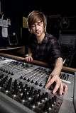 Sound Supervisor in Television Gallery Royalty Free Stock Photography