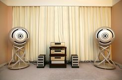 Sound system. Modern sound system a receiver and acoustics royalty free stock images