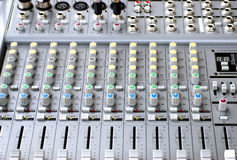 Sound System Console. Outdoor Electronic Sound System Console royalty free stock images