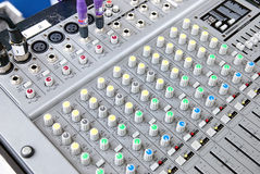 Sound System Console. Outdoor Electronic Sound System Console stock photography