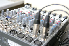 Sound system control board Stock Photos