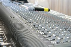 Sound system control board Royalty Free Stock Image