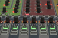 Sound system control panel. Stock Photography