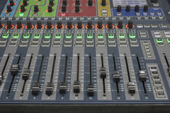 Sound system control panel. Stock Photo