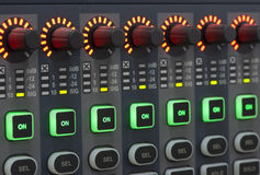 Sound system control panel. Royalty Free Stock Photos