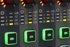 Sound system control panel. Stock Image