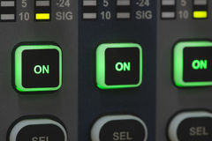 Sound system control panel. Stock Images