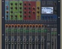Sound system control panel. Stock Photos