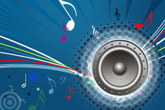 Sound System Design Royalty Free Stock Image