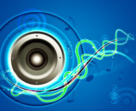 Sound system design background Royalty Free Stock Photo