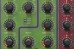 Sound system equalizer control panel. Stock Photos
