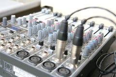 sound system för brädekontroll Arkivfoton