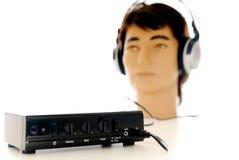 sound system för hörlurar med mikrofonhifi Royaltyfria Foton