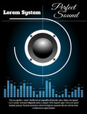 Sound system poster template Stock Photography