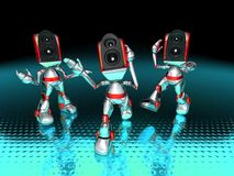 Sound system robots Royalty Free Stock Photography