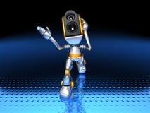 Sound system robots Stock Image