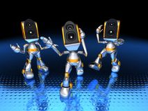 Sound system robots Royalty Free Stock Photos