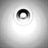 Sound-system speaker halftone illustration in black and white Stock Images