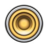 Sound-system speaker vector  illustration icon over white Stock Photo